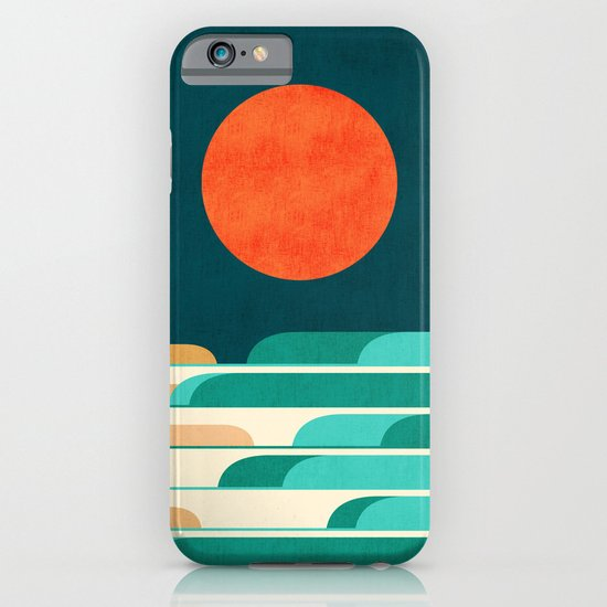 Chasing wave under the red moon iPhone & iPod Case