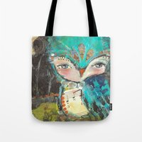 Lullaby Owl by Juliette Crane Tote Bag