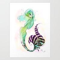 Green Soleil Art Print