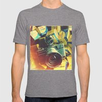 Lomolife Mens Fitted Tee Tri-Grey SMALL