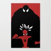 Spiderman (Amazing) vs Venom Canvas Print