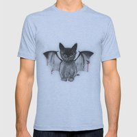Cat Bat Mens Fitted Tee Athletic Blue SMALL