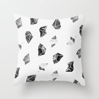 Marble Fragments Throw Pillow
