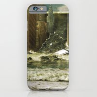 iPhone & iPod Case featuring Water vs City by Steve McGhee