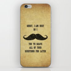 Moustache Questions iPhone & iPod Skin