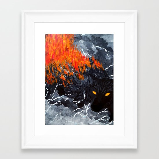 Down Cyuka Framed Art Print