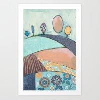 Jelly Bean Trees In A Fi… Art Print
