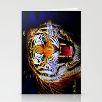 Fearless Tiger 2 Stationery Cards