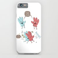 iPhone & iPod Case featuring High Five (gloves version) by David Finley