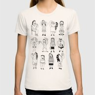 KIDS AND PIZZA Womens Fitted Tee Natural SMALL