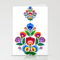 folk flowers ornament  Stationery Cards