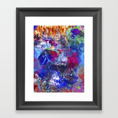 Unicorn boom Framed Art Print