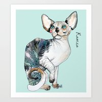 Romeo the sphynx Art Print