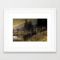 West End Bridge Framed Art Print