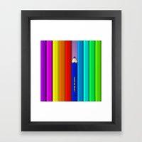 Color Me Happy :)  Framed Art Print