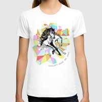 Comic Art: Wild Hearts Womens Fitted Tee White SMALL