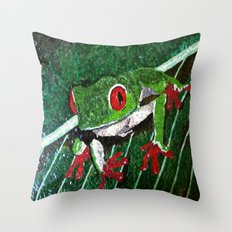 Costa Rica Tree Frog Throw Pillow