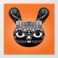 Day Of The Dead Bunny Canvas Print