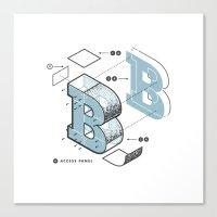 The Exploded Alphabet / … Canvas Print