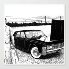 asc 637 - Les jumelles trépidantes (The V2 engine) Canvas Print