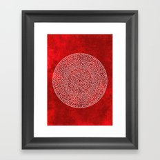 THE RED LABYRINTH Framed Art Print