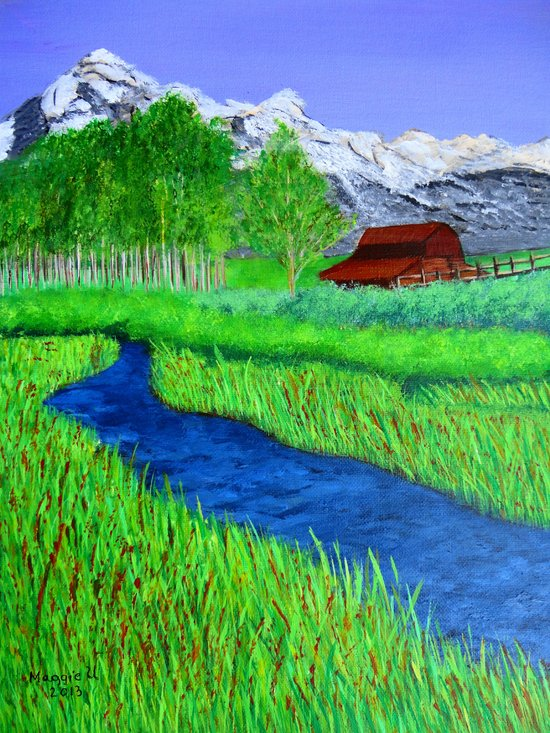 Grand-Teton barn Art Print