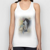 Horse Watercolor Painting Unisex Tank Top