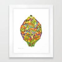 Lemon (Citron) Framed Art Print