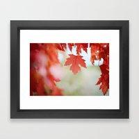 Autumn Reds Framed Art Print