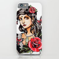Girl with Butterflies - tattoo iPhone 6 Slim Case