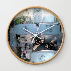 Summer space, smelting selves, simmer shimmers. [extra, 9] Wall Clock