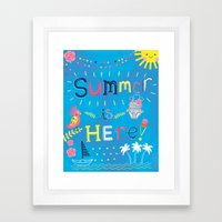 Summer is HERE! Let's beach it up!  Framed Art Print