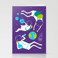 A Day Out In Space - Pur… Stationery Cards