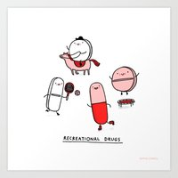 Recreational Drugs Art Print