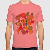 Veggies Fruits Mens Fitted Tee Pomegranate SMALL