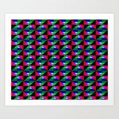 Digital Quilt Art Print