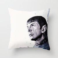 Goodbye Mr. Spock - Leonard Nimoy Throw Pillow