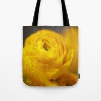 Golden Ranunculus Flowers Tote Bag