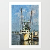Fishing Anyone Art Print