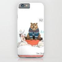 iPhone & iPod Case featuring Bear Sleigh by Sandra Dieckmann