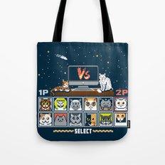 Internet Cat Fight Tote Bag