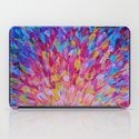 SPLASH, Revisited - Bold Beautiful Feminine Romance Ocean Beach Waves Magenta Plum Turquoise Crimson iPad Case