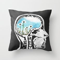 Brain Flowers Throw Pillow