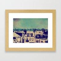 Roofs Framed Art Print