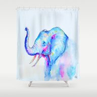 Bubblegum Elephant Shower Curtain