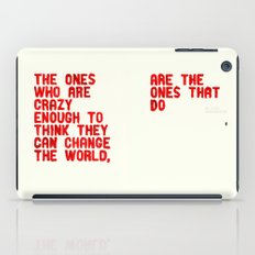 The Crazy Ones iPad Case