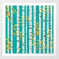 Birch Wood Art Print
