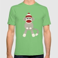 Sock Monkey Mens Fitted Tee Grass SMALL