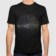 River That Vanishes (Fjo… Mens Fitted Tee Tri-Black SMALL