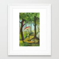 Frog in the Forest Framed Art Print